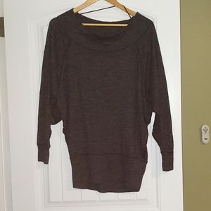 Black off the shoulder We The Free tunic sweater